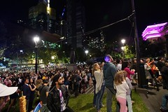 Crowd at the State Library