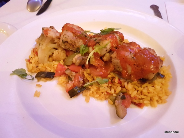 Grilled Cod & Chorizo