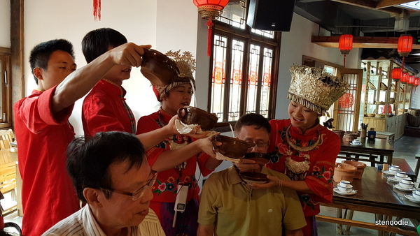 Rice wine drinking challenge