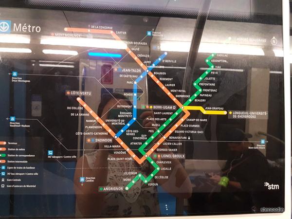 Montreal Metro subway map