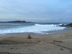 Carmel River Beach/early morning/surf's up!