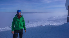 Jakub Michalski, moj partner na zawodach. Najwyższy punkt - Pop Ivan 2028m. Dzień 2.