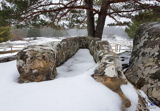 Necrópolis de Revenga y La Cerca con nieve 13