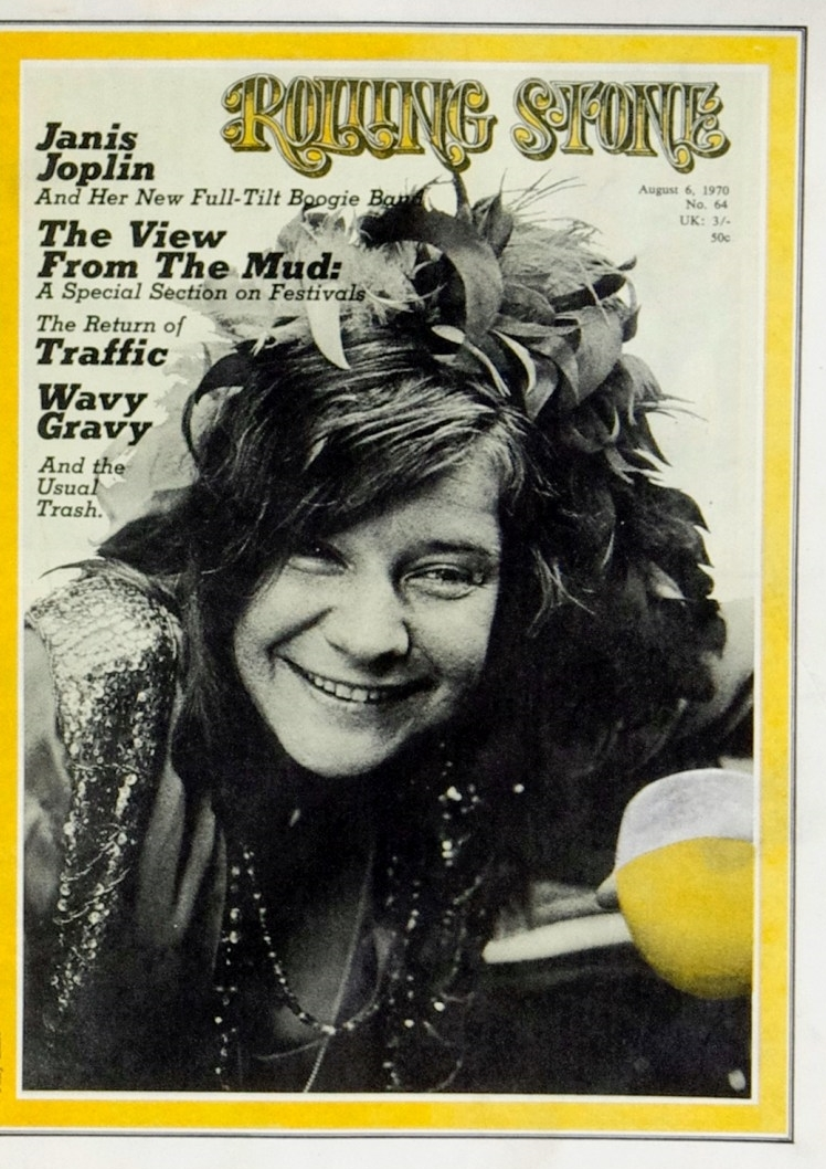 Rolling Magazine featuring Janis Joplin on the cover, August 6, 1970.