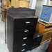 Tall chest drawers brown leatherette E150