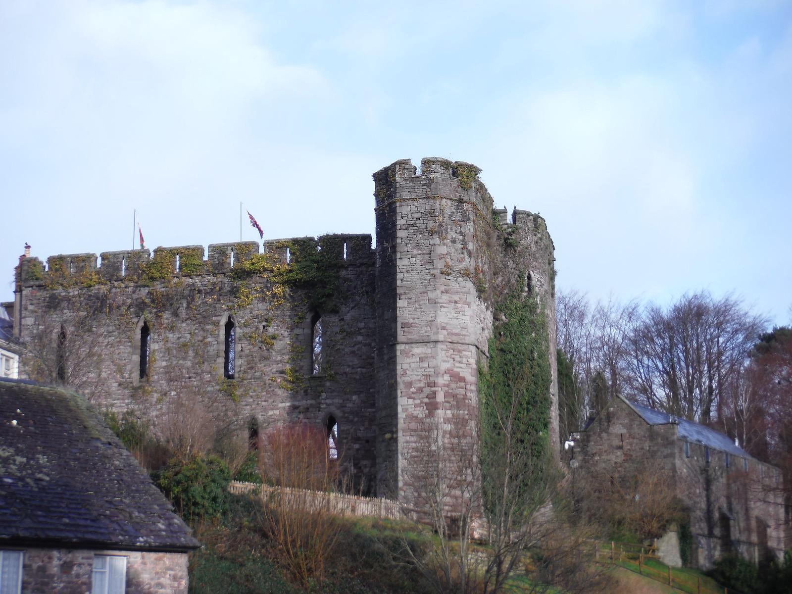 Brecon Castle Ruins SWC Walk 306 - Brecon Circular (via Y Gaer, Battle and Pen-y-crug)