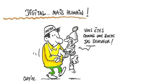 L'engagement citoyen à l'heure du numérique - Grenoble - dessins de Cled'12