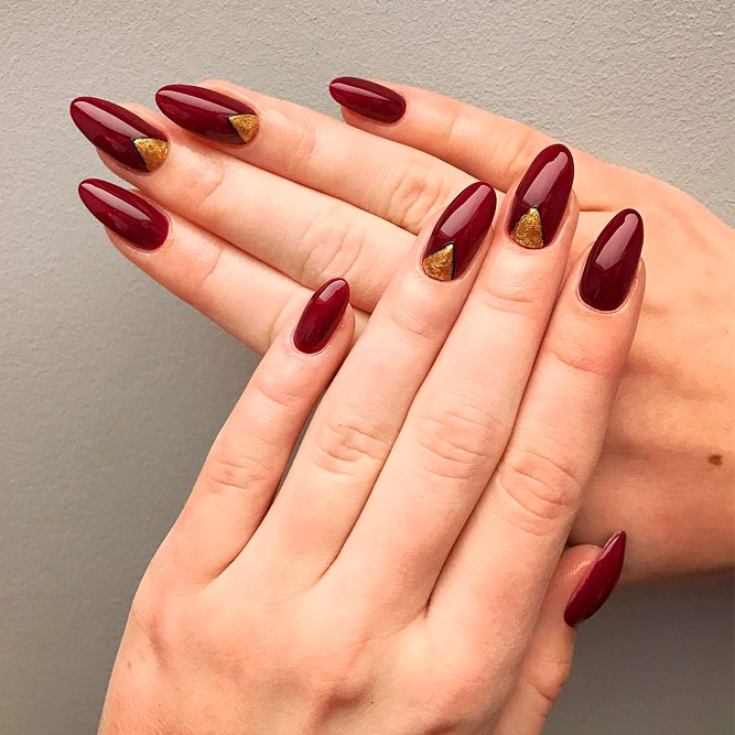 Burgundy Short Nail Art Ideas - Stunning Shades Of Burgundy Nail Art 2018 - Nails C