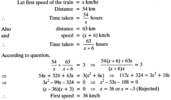 Quadratic Equations Chapter Wise Important Questions Class 10 Mathematics 48