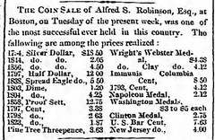 Hart Cour Sat 4_20_1861-2 Alfred S. Robinson coin sale