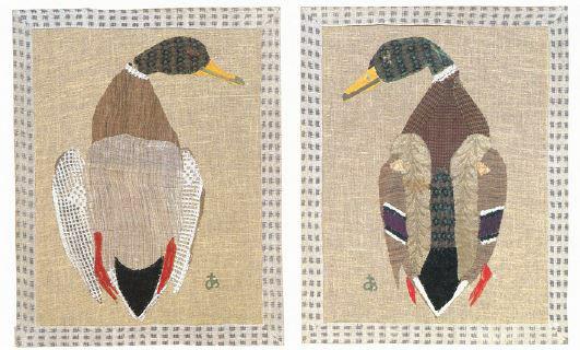 《鴨(腹)》(左)と《鴨(背)》(いずれも1953年、豊田市美術館)