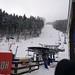 Dojezd sjezdovky Slalomák k LD Černý vrch