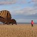 The Scallop and a boy - Aldeburgh Suffolk