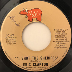 ERIC CLAPTON: I SHOT THE SHERIFF(LABEL SIDE-A)