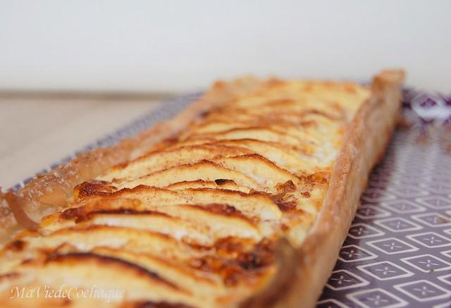 tarte aux pommes alsacienne sans gluten et sans lactose