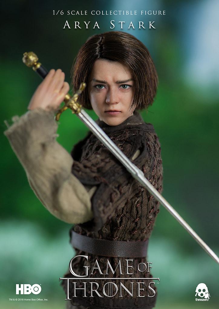 threezero《冰與火之歌:權力遊戲》艾莉亞·史塔克 Game of Thrones Arya Stark 1/6 比例可動人偶作品