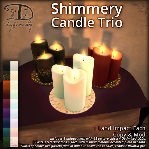 Shimmery Candle Trio - TeleportHub.com Live!