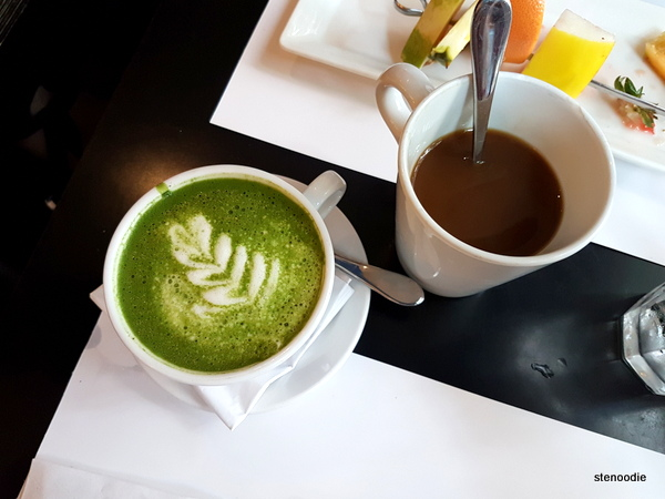 Matcha Latte and coffee