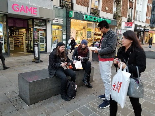 2018-January-18-MAGAZINE DISTRIBUTION-Messiah Herald and The True Mehdi Magazine Distribution in Croydon Town Centre