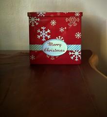 Red tin box
