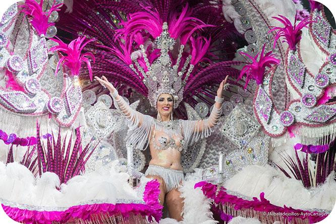 Finuchi Mante, de Salgueiro, reina del Carnaval de Cartagena
