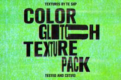 Color glitch textures