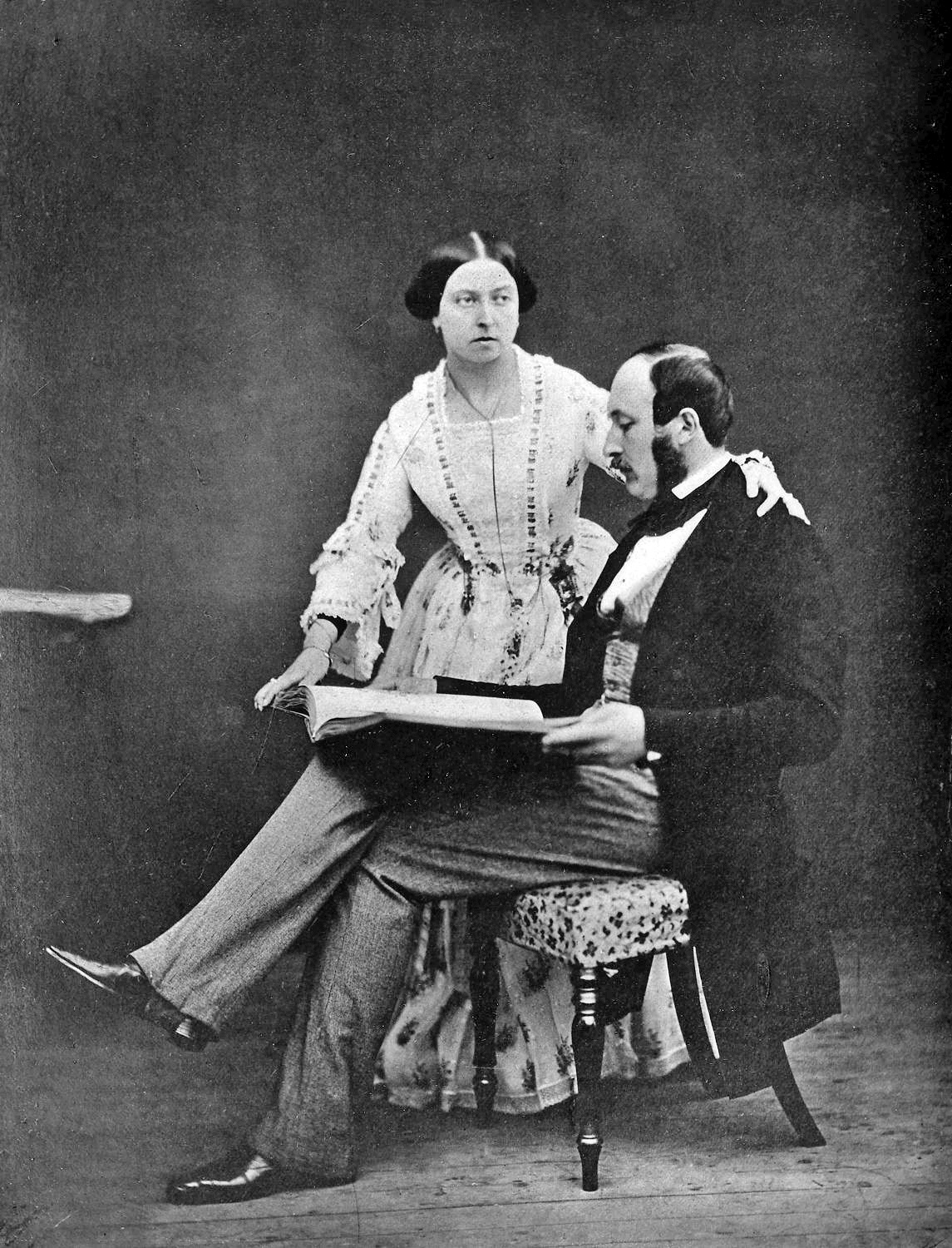 Queen Victoria and Prince Albert in 1854.
