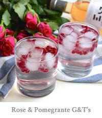 Rose & Pomegranate G&T's