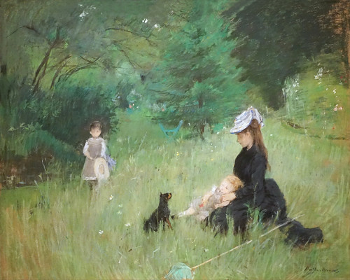 Dans le parc de Berthe Morisot (Petit Palais, Paris)