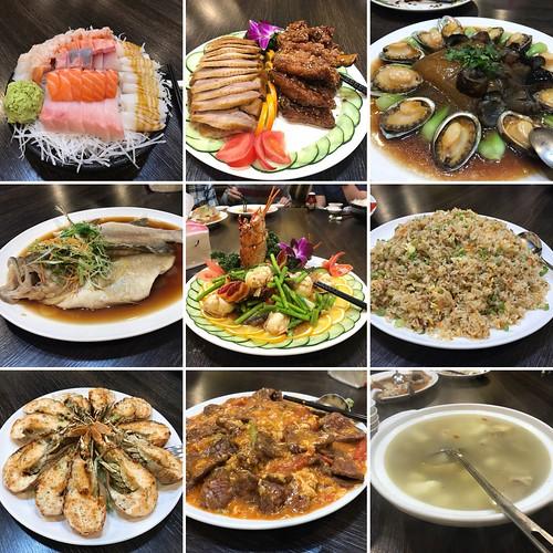 晚餐的菜色,還有前菜沙拉與一盤青菜沒有納入畫面!
