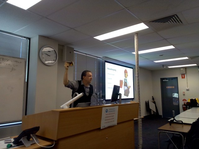 Dr Stephen Dann taking students through a Lego Serious Play exercise at the Australian National University in Canberra