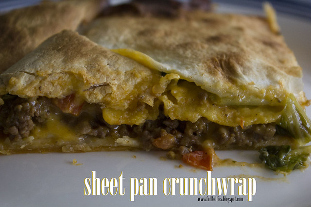 Sheet pan crunchwrap