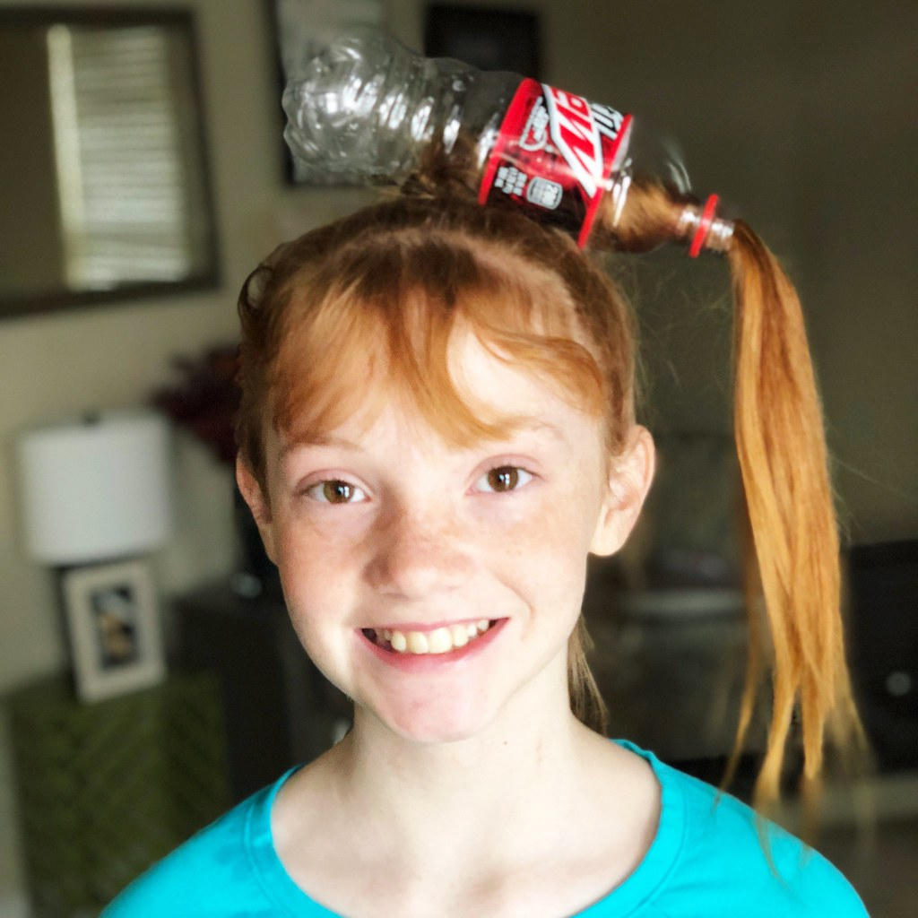 crazy hair pop bottle hair
