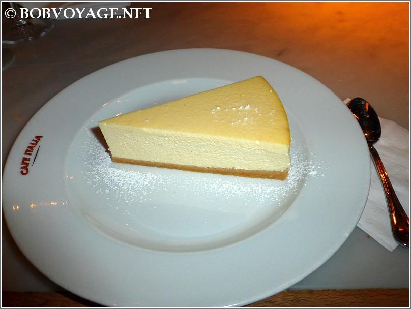 עוגת גבינה ב- קפה איטליה - cafe italia