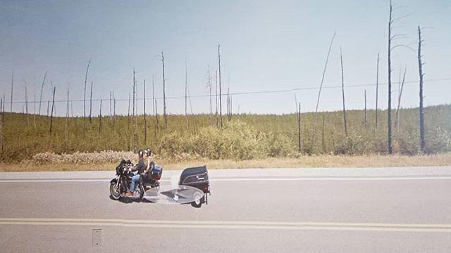 Hot day. 3 shoes. #ridingthroughwalls #xcanadabike #googlestreetview #ontario