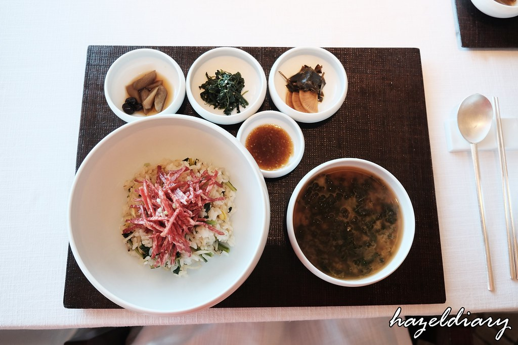 La Yeon Mixed Rice with beef Tartare