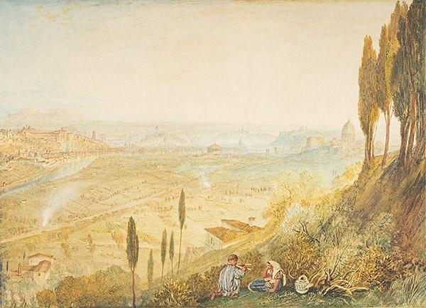 J・M・W・ターナー《モンテ・マリオから見たローマ》(1820年 水彩、スクレイピングアウト・紙 エディンバラ、スコットランド国立美術館群)(C)Trustees of the National Galleries of Scotland