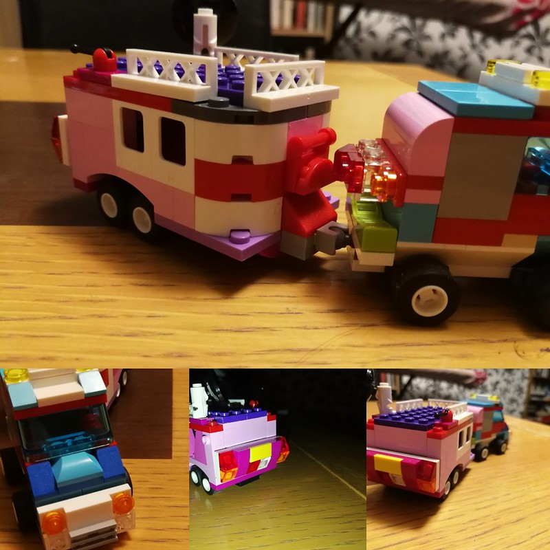 Nowhere near the level of amazing I often see online, but I'm pretty pleased with this caravan I made with the children last night.