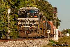 NS 9875 | GE C40-9W | NS Memphis District