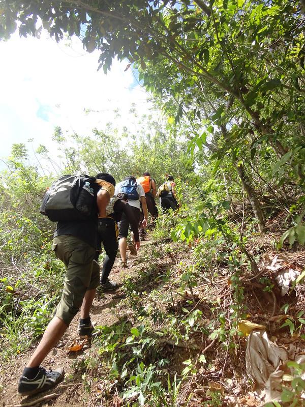 steep ascent Mt. Babag