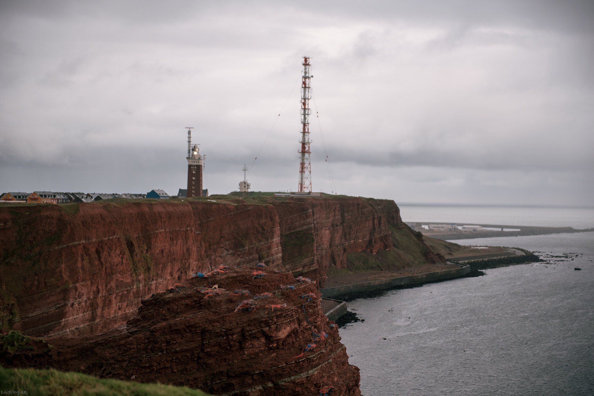 Grey weather on Helgoland