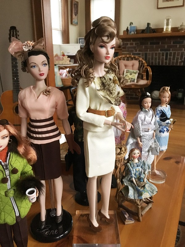Dolls on the coffee table this week.