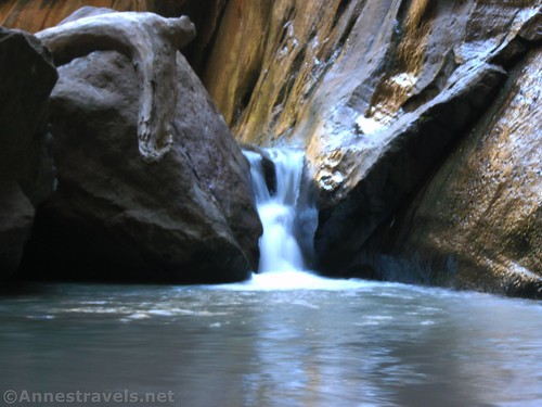Another little waterfall in Orderville Canyon in Zion National Park, Utah