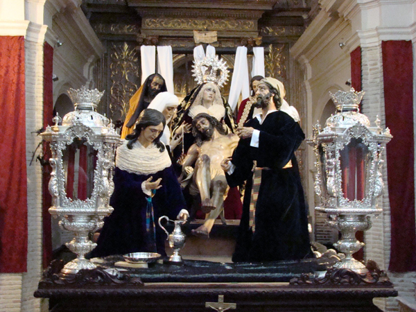 Hermandad Sacramental de Nuestra Señora del Carmen, Cofradia de Nazarenos del Santísimo Cristo de las Misericordias, Nuestro Padre Jesús Descendido de la Cruz en el Misterio de su Sagrada Mortaja y María Santísima de la Piedad