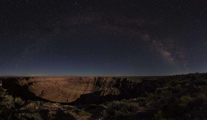 2015 Night Sky - 377 - Jul 22 - Grand Canyon Northeast - 40 percent Moon - Panorama3ra4