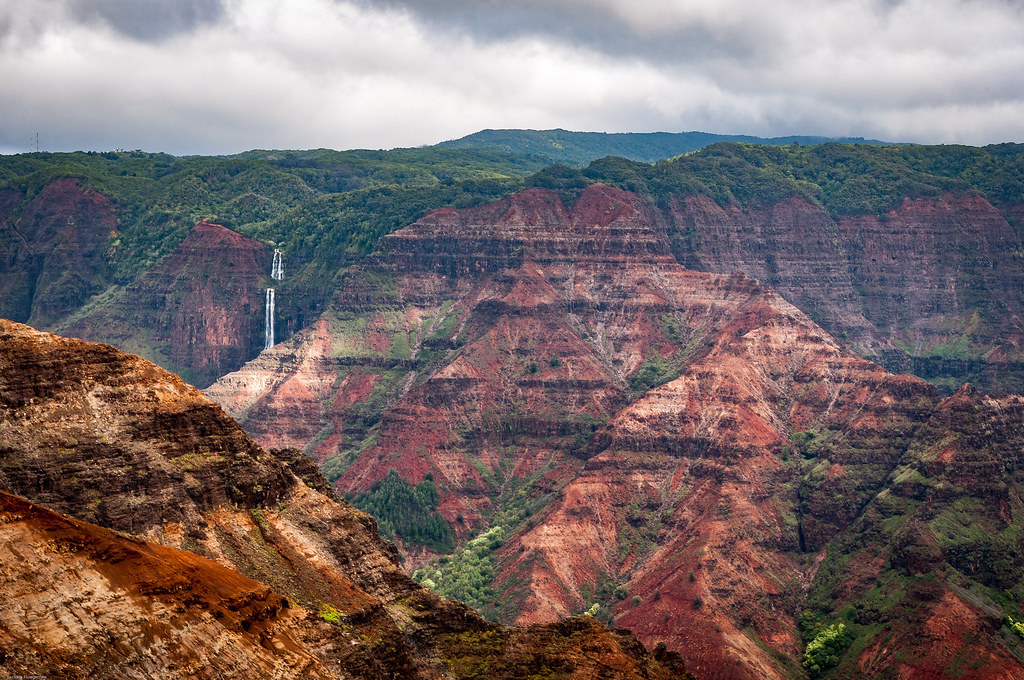 Waipo'o Falls in Waimea Canyon