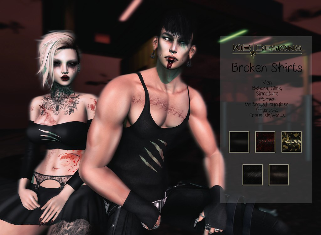 KiB Designs – Broken Shirts @The Darkness Event