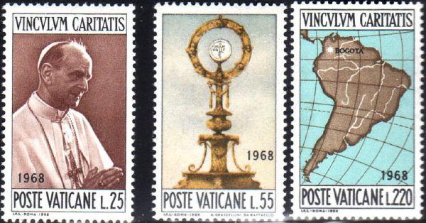 Známky Vatikán 1968 Svetový kongres, nerazítkovaná séria