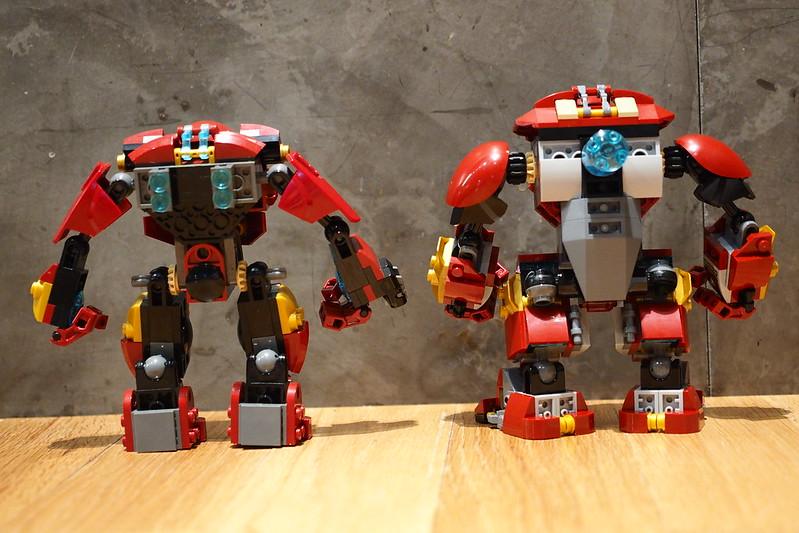 Hulkbusters 76031 versus 76104