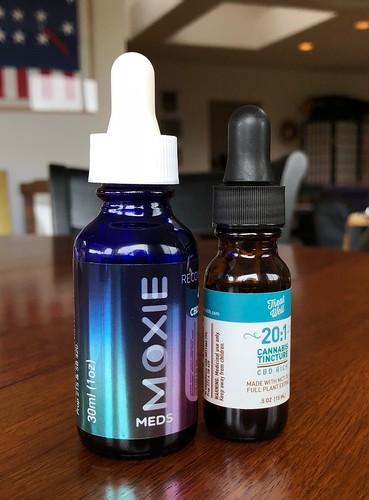 Moxie CBD tincture, Treat Well cannabis tincture